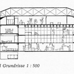 Schnitt und Grundriss 1 : 500