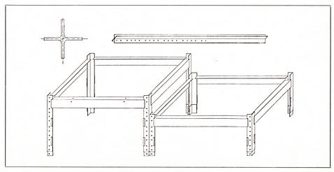 Abbildung Stapelbare Tische und Steher, Detail 1:20