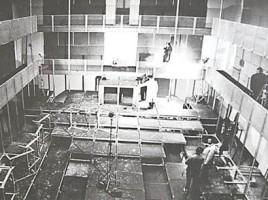 Einzug der Komödianten in das neue Theater im Künstlerhaus, 1974